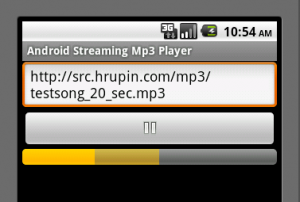 Android Streaming mp3 player's screenshot