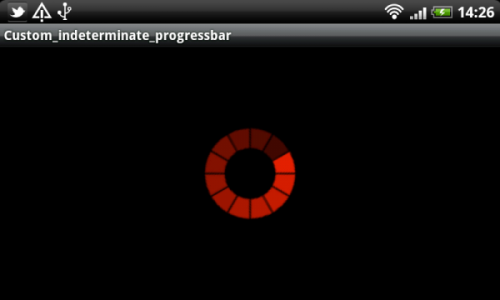 How to make custom indeterminate ProgressBar in Android or