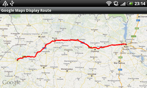 Android Google Maps. How to show route between two geopoints on map.
